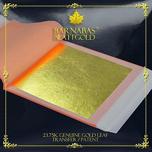 Barnabas Echtes Blattgold Transfer 23.75 Karat, 85 X 85mm, 25 Blätter in Blattsammlun