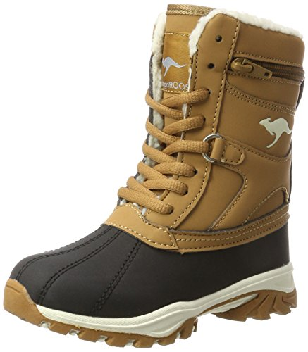 KangaROOS Unisex-Kinder Darwin Schneestiefel, Braun (Saddle Brown), 36 EU (Saddle Shoes Mädchen)
