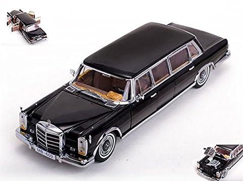 SUNSTAR SS2202 MERCEDES 600 PULLMAN 1966 BLACK 1:18 MODELLINO DIE CAST MODEL