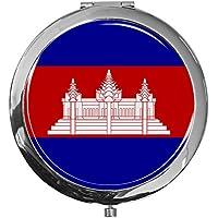 "metALUm - Extragroße Pillendose in runder Form""Flagge Kambodscha"" preisvergleich bei billige-tabletten.eu"