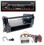 caraudio24 JVC KD-T402 USB AUX MP3 1DIN CD Autoradio für Chrysler PT Cruiser 300C Dodge Jeep Commander Compass