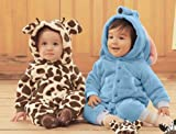 Baby Strampler Kuschel Tiere 'Fleece'   Babystrampler langarm   Giraffe, Zebra, Elefant, Hase, Größe:18-24 Monate;Modell:Elefant - 3