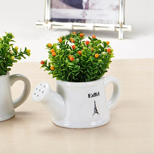 Aoligei Kreative keramische Gießkannen Beeren Innenblumen Bonsai jeder Satz von zwei Töpfen 13*10cm