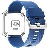 Fitbit Blaze Armband,amBand Silikon klassisch Ersatz-Armband mit Schnellspanner für Fitbit Blaze Smart Fitnessuhr ( Groß)