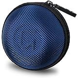 GoFree Orb Case for Earphones, Pen Drives, SD Memory Cards, Keys, Coins Etc. [ Multi Purpose Case ] Shock Proof Ballistic Nylon (Electric Blue)
