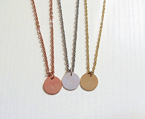 personalized-tiny-initial-name-disk-necklace-bridesmaid-gifts-tag-necklace