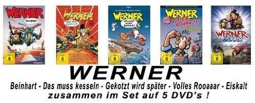 Werner – Set aus 5 Filmen / Beinhart / Das muss kesseln!!! / Volles Rooäää!!! / Gekotzt wird später / Eiskalt [5 DVDs]