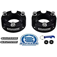 Supreme Suspensions - Tundra Lift Kit 2 Front Suspension Lift CNC Machined T6 Aircraft Billet Tundra Leveling Kit (Black) Toyota Tundra Lift Kit PRO by Supreme Suspensions
