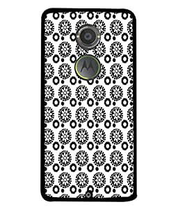 PrintVisa Designer Back Case Cover for Motorola Moto X2 :: Motorola Moto X (2nd Gen) (Black White Abstract Illustration Colorful Decorative Graphic Attractive)