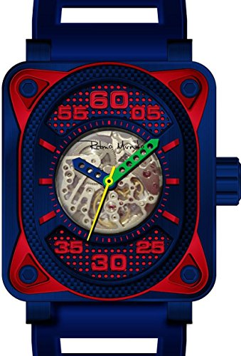 Ritmo Mundo 'Hulk' Japanese Automatic Stainless Steel and Silicone Casual Watch, Color: (Model: 1300/5 Blue)