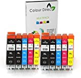 10 XL Colour Direct CLI-551XL/ PGI-550XL Compatible Ink Cartridges for Canon Pixma MG5450 MG5550 MG6350 MG6450 MX725 MX925 IP7150 iP7250 Printers