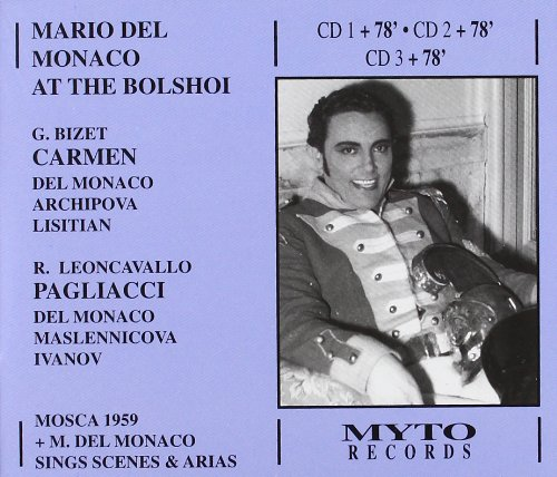 Mario del Monaco at the Bolshoi [Import USA]