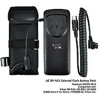 JJC Flash Externo de Batería Pack para Nikon SB-910 SB-900 SB-5000 Nissin Di866 Di866 Mark II MG8000 Reemplazo de Nikon SD-9
