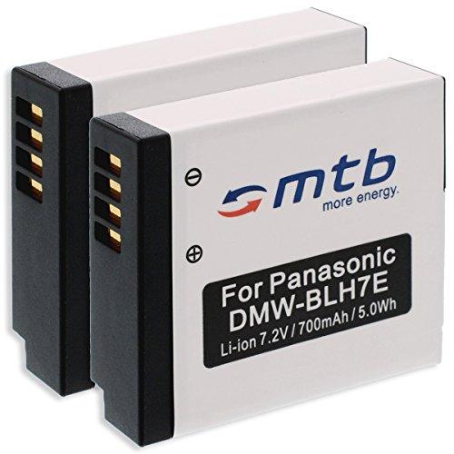 2x Batterie DMW-BLH7 pour Panasonic Lumix DMC-GF7 / DMC-GM1, GM5