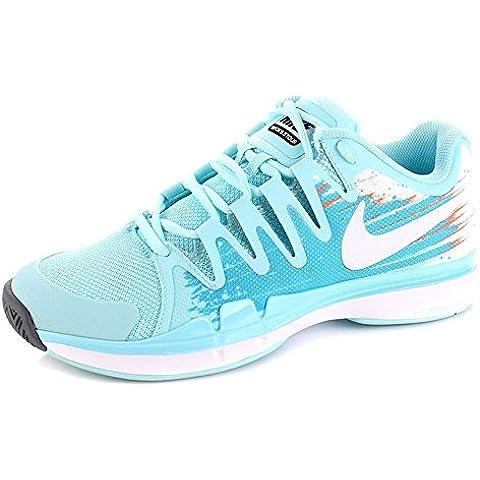 NIKE - Zapatillas de tenis Zoom Vapor 9.5 Tour , Mujer , Turquesa (Glcr Ice/Wht-Vvd Bl-Atmc Orng)