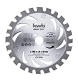kwb AKKU-TOP Easy Cut Kreissägeblatt 584738 (Dünnschnitt-Kreissägeblatt, hartmetallbestückt)