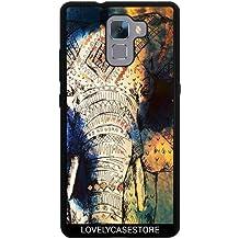 Funda de silicona para Huawei Honor 7 - Azteca Elefant Dibujo
