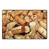 HEOEH Awesome Wein Korken Fußmatten Bereich Teppich Teppiche rutschhemmend Fußmatte Indoor Outdoor 78,7x 50,8cm 31 x 20 inch Mehrfarbig