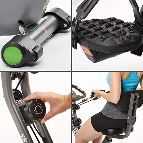 511LVKd8WpL. SS500  - Skandika X-3000 Multifuntion X-Bike Fitness Bike Hometrainer resistance band system - Hand pulse sensors - Foldable Indoor Fitness - Ergometer - Tablet holder - Foldable Fitness Indoor bike