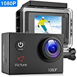 Victure Action Camera 4K WIFI Underwater Diving Camera 20MP Waterproof Sports Cam 170 Wide Angel 2 Inch LCD Display With 2 Pcs Rechargeable Batteries And Accessories Kits