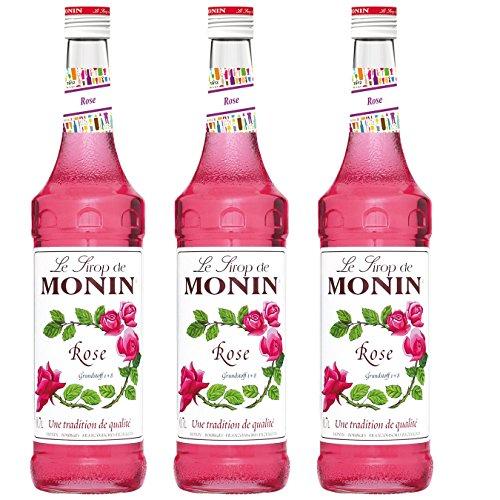Monin Sirup Rose, 0,7L 3er Pack Monin Rose