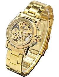 ufengke® goldene hohle automatische mechanische handgelenk armbanduhren für frauen,damen strass zahlen geschenkuhr