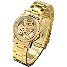 ufengke® reloj de pulsera automático hueco de oro de pulsera mecánico para las mujeres,señoras rhinestone números reloj de regalo