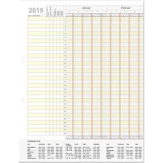 HolyPlan 2019 - Urlaubsplaner - Kalendarium von 4-prints - Kalender (gefaltet)