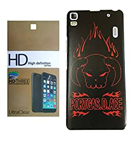 Lenovo K3 Note MOCELL Printed Design Back Case Cover With Ultra Clear Screen Guard Combo