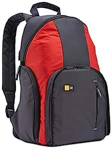 Case Logic TBC411G Sac à dos en nylon pour Appareil Photo Réflex Gris/Rouge