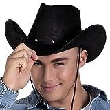 Cowboy-Hut in schwarz für Erwachsene