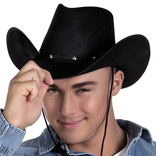 z für Erwachsene (Erwachsene Schwarz Cowboy Hut)