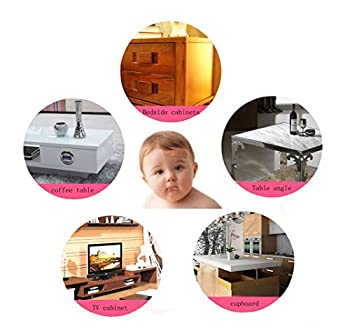 Youkap 5m L-shaped Toddler Baby Kids Safety Soft Foam Sponge Corner Edge Corner Protector Guard Cushion Anti-collision Bumper Strip Table With 8 Foam Corner Guards Black 1