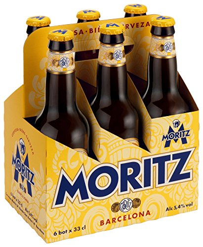 Moritz Bier 6er Pack ( 6 Fl. x 0,33cl. ) 5,4% Vol. (Bier Pack Six)