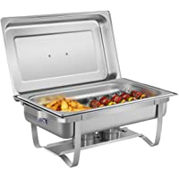 Royal Catering Chafing Dish Chauffe-Plat Bain-Marie RCCD-1/1-65S-1 (2 brûleurs sécurisés, Récipient pour l'eau 6,5 L…