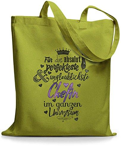 StyloBags Jutebeutel / Tasche Für die absolut perfekteste Chefin Kiwi