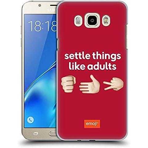 Ufficiale Emoji Sasso Carta Forbice Parlare Cover Retro Rigida per Samsung Galaxy J7 (2016)