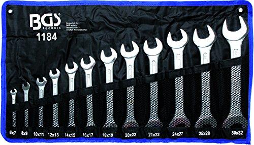 BGS Doppelmaulschlüssel-Satz, 6 x 7-30 x 32 mm, 12-teilig, 1184