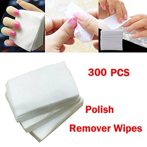 SMILEQ® 300 stücke Fusselfrei Nail art Gel Polish Remover Wattepad Nagel abwischen (weiß)
