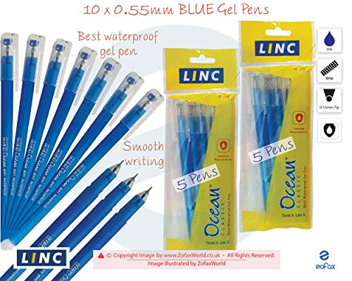 15 x Linc Glycer Ball Pen 0.5 mm Fine Tip Purple Ballpoint & Rollerball Pens Voilet Ink Ball Point Pen