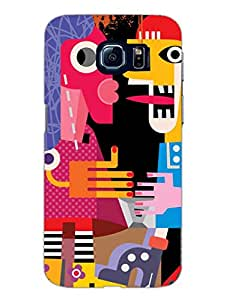 Random Abstract Art - Hard Back Case Cover for Samsung S6 - Superior Matte Finish - HD Printed Cases and Covers