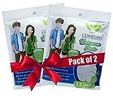 #9: Comfura Disposable Underarm Sweat Pads -12 Pads (Pack of 2)