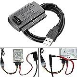 USB 2.0 zum SATA / IDE Daten Festplattenlaufwerk Kabel für HDD Energien Konverter Adapter