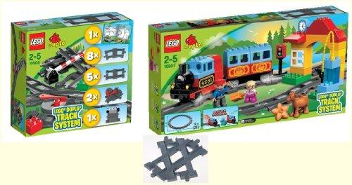 LEGO DUPLO Eisenbahn Set - Eisenbahn Starter Set 10507 und Eisenbahn Zubehör ...