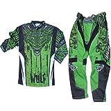 Motorradanzug WULFSPORT AZTEC KINDER Motocross-Rennkleidung Hose Jersey Off-road Anzug MX Quad Scooter Sportkleidung, Zweiteilige Kombinationen (Grun, 5 bis 7 Jahre)