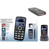 Telefono Cellulare per Anziani con Tasti Grandi Display Numeri Grandi Forte Suoneria Amplificata Torcia Led Pulsante SOS Base di Ricarica