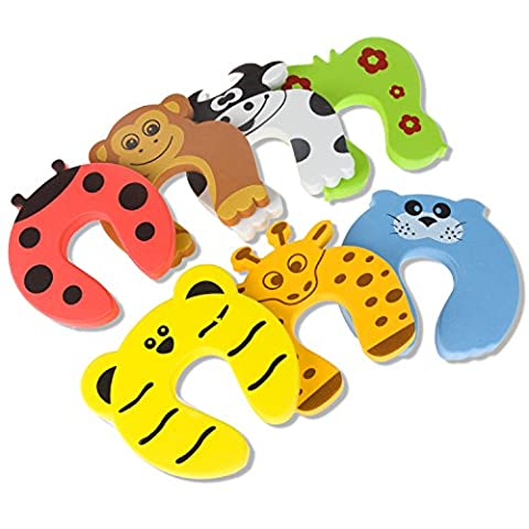 Door Stopper, Laniakea® 7 Pcs Child Safety Animal Cushion Hinge