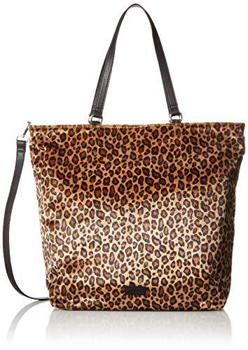 s.Oliver (Bags Damen 39.907.94.2491 Umhängetasche, Braun (Brown), 11x36x33 cm - Tiger Print Handtasche