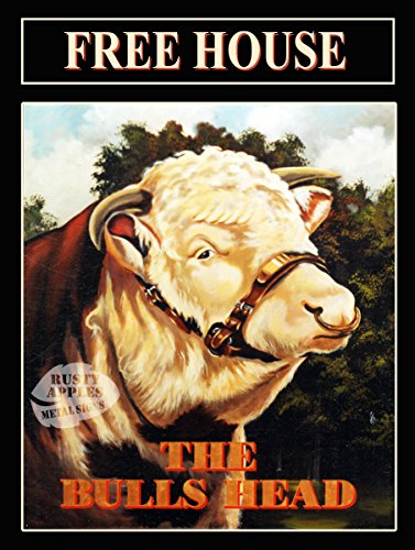 La Rouille Pommes Metal Sign Co The Bulls Tête 2 Original Vintage Pub Sign Plaque en métal