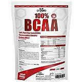 C.P. Sports 100% BCAA Pulver, Powder mit Vitamin B6, gut löslich, Vegan REINE BCAAS - HÖCHSTE DOSIERUNG - unflavoured - essentielle Aminosäuren 500g und 1000g (1000g)